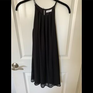 Lush chiffon a line halter dress black